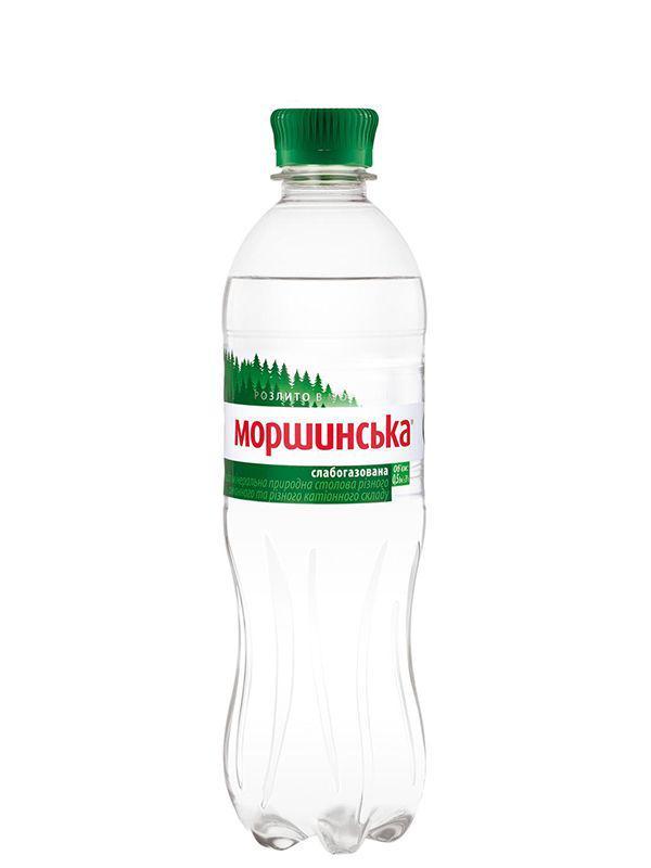 Минеральная вода Моршинская слабогазированная 0,5л
