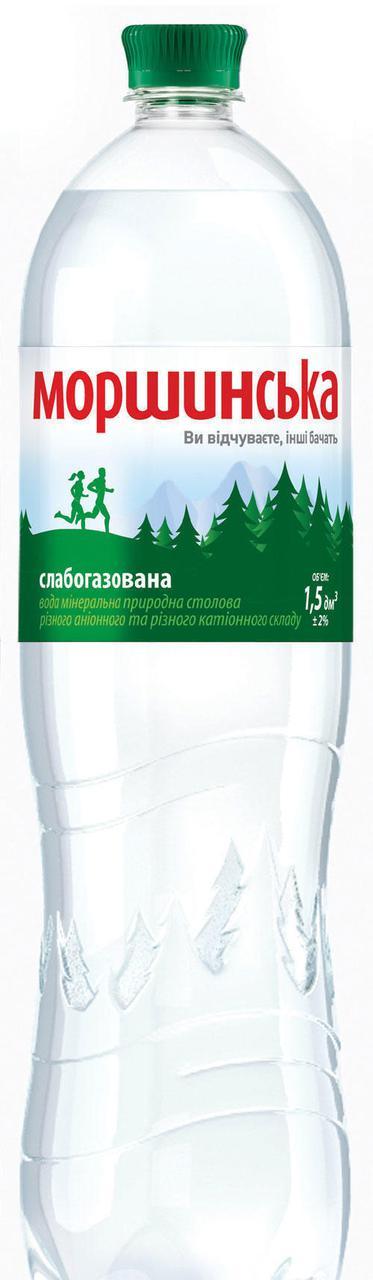 Минеральная вода Моршинская слабогазированная 1,5л