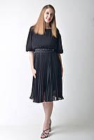 Черное коктейльное платье с вышитым поясом Amodediosa, фото 1