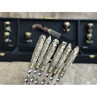 """Подарочный комплект №4 (набор шампуров """"Дикие звери"""", нож, 6 чарок) в кейсе из кожзама"""