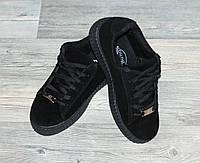 Кроссовки черные на шнурках унисекс р.38, р.40. 40