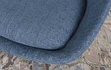 Стул поворотный Toledo темно-голубой рогожка Nicolas (бесплатная доставка), фото 4