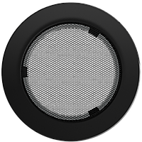 Вентиляционная решетка Kratki FI Ø150 мм Черная, фото 1