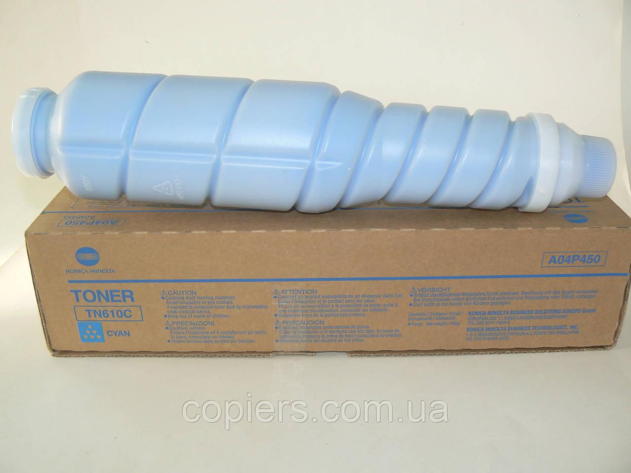 Тонер TN-610 Cyan оригинал, Bizhub Pro C6500/C5500, A04P450 Konica Minolta