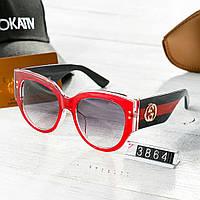 Женские брендовые очки Gucci Гуччи с толстыми дужками красные d16abd3644e