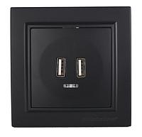Розетка USB (2 порта)графит Enzo ЕН-2188-PG