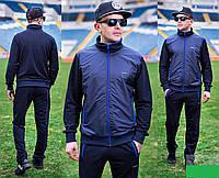 Мужской спортивный костюм кофта комбинированная трикотаж+плащевка Размеры: 46-48, 50-52, 54-56