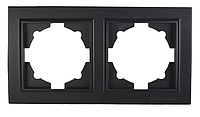 Рамка двойная Enzo графит ЕН-2201-PG