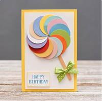 Открытка ручной работы праздничная Happy Birthday! №14
