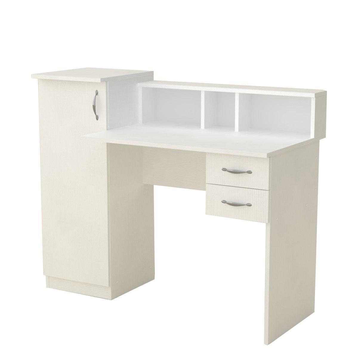 Стол письменный пи пи-1 нимфея альба (белый) Компанит (118х55х96 см)