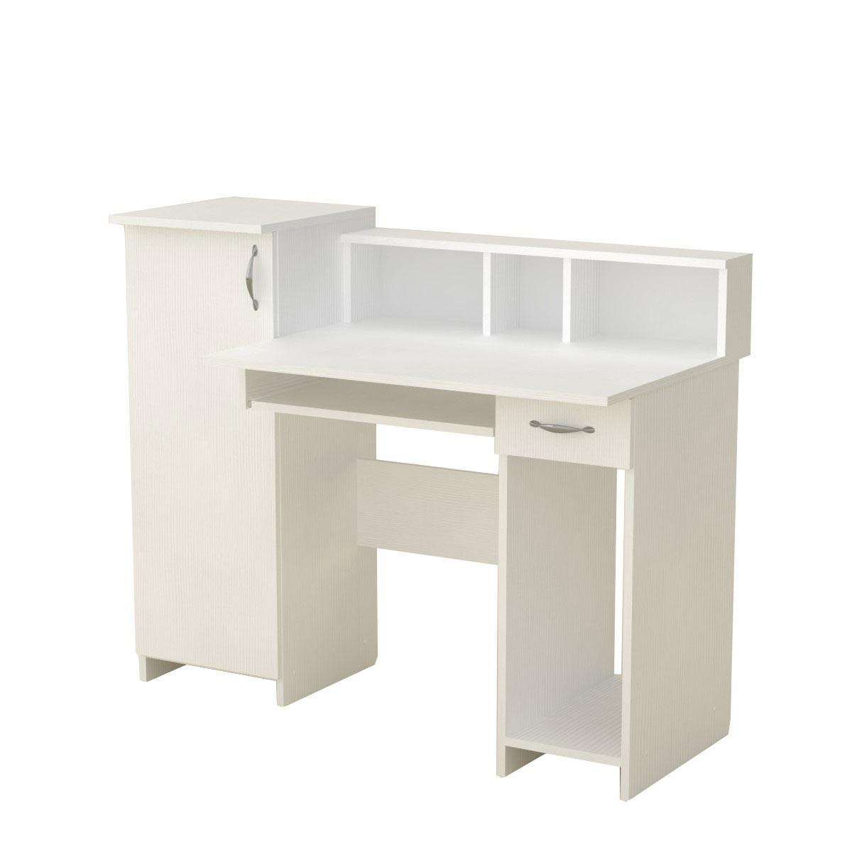 Стол компьютерный пи пи-2 нимфея альба (белый) Компанит (118х60х96 см)