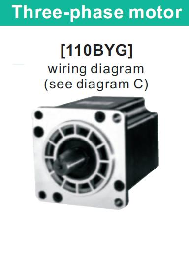 110BYGH3221(NEMA 42) кроковий двигун трифазний