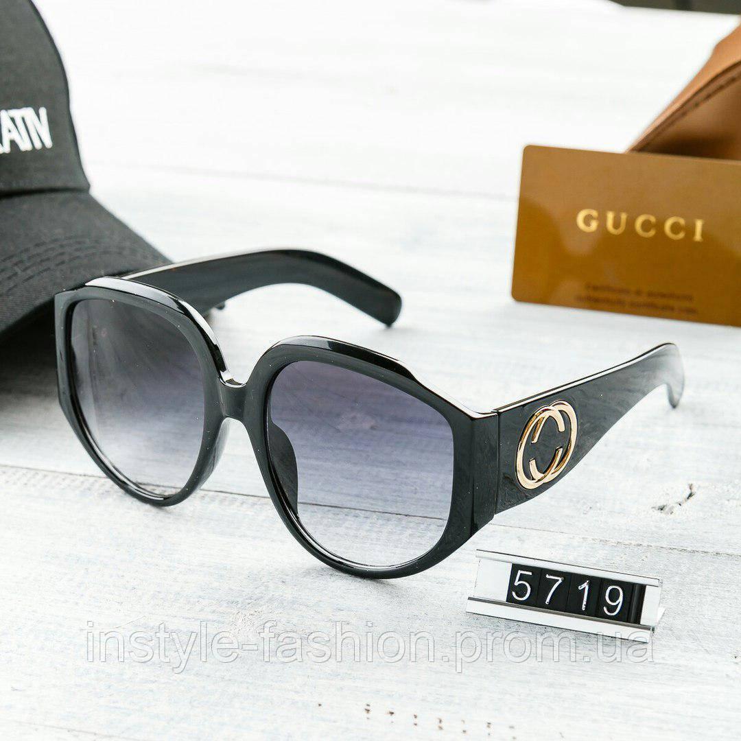 Женские брендовые очки Gucci Гуччи круглые с толстыми дужками черные - Сумки  брендовые, кошельки, c376bdb0ca7