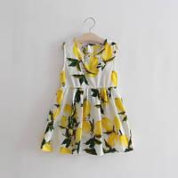 Модное летнее платье для девочки Цитрусовый Рай