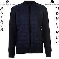 Куртка бомбер Pierre Cardin весенняя вязаная темносиняя | Куртка бомбер Pierre Cardin весняна темносиня