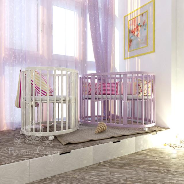 """Круглая кроватка для новорожденных """"Smart-bed"""" (трансформер)"""