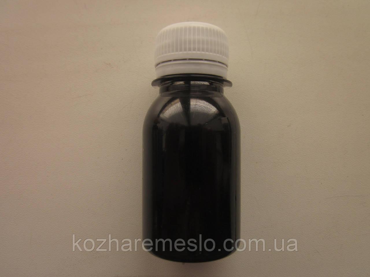 Краска для уреза (торца) кожи FENICE на силиконовой основе 50 грам чёрная