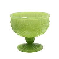 Стеклянная креманка Рафаелло молочно-зеленая, 250 мл