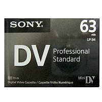 Видеокассета мини DVC   Sony DVM-63PS Professional 63 мин