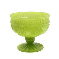 Креманка стеклянная Рафаелло молочно-салатовая, 250 мл