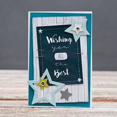 Открытка стандартная Wishing you all the best звезды