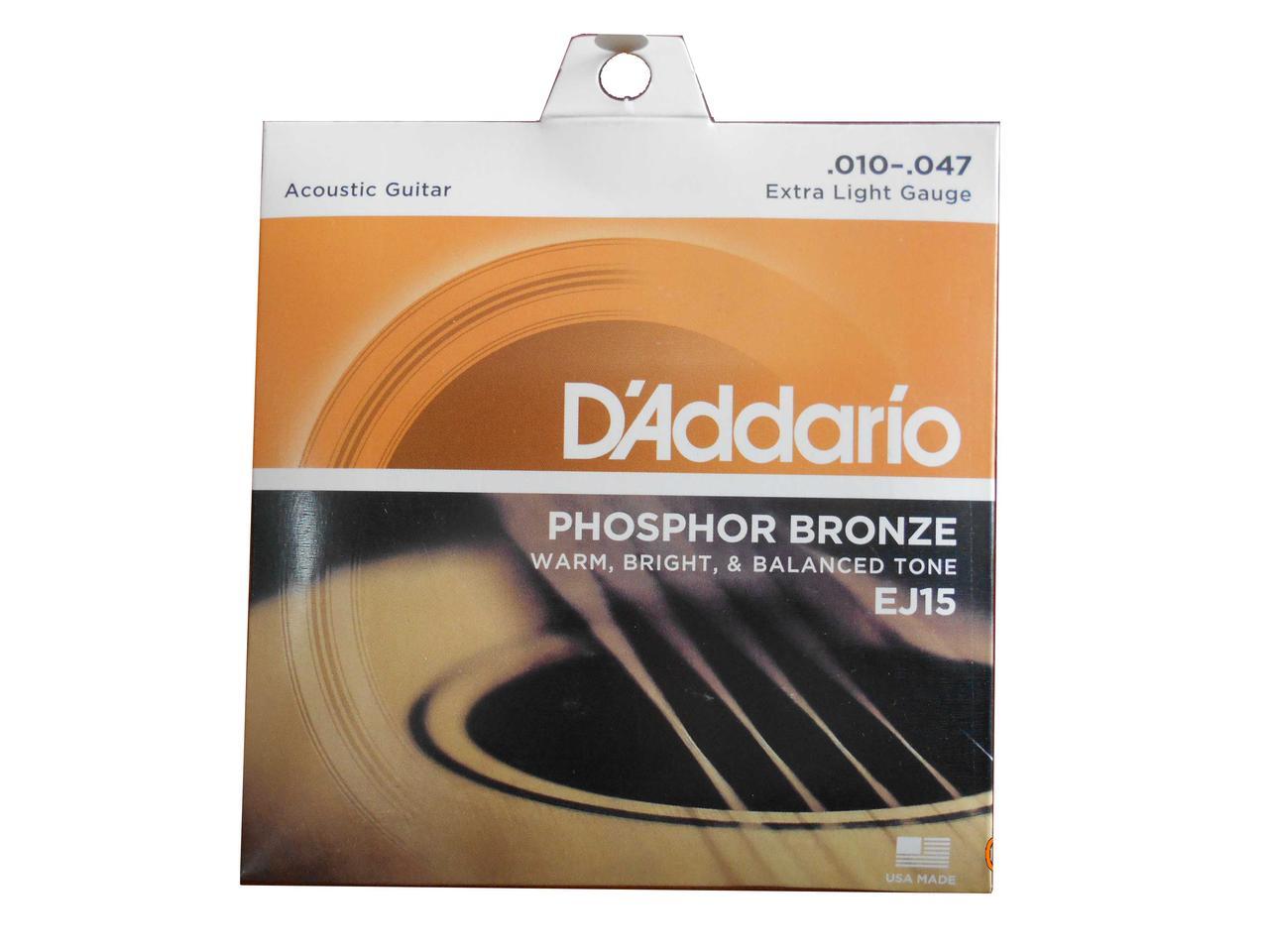 Струны Daddario Фосфорная Бронза размер 010