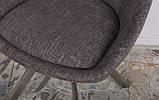 Стул поворотный Toledo кофе-мокко рогожка Nicolas (бесплатная доставка), фото 6