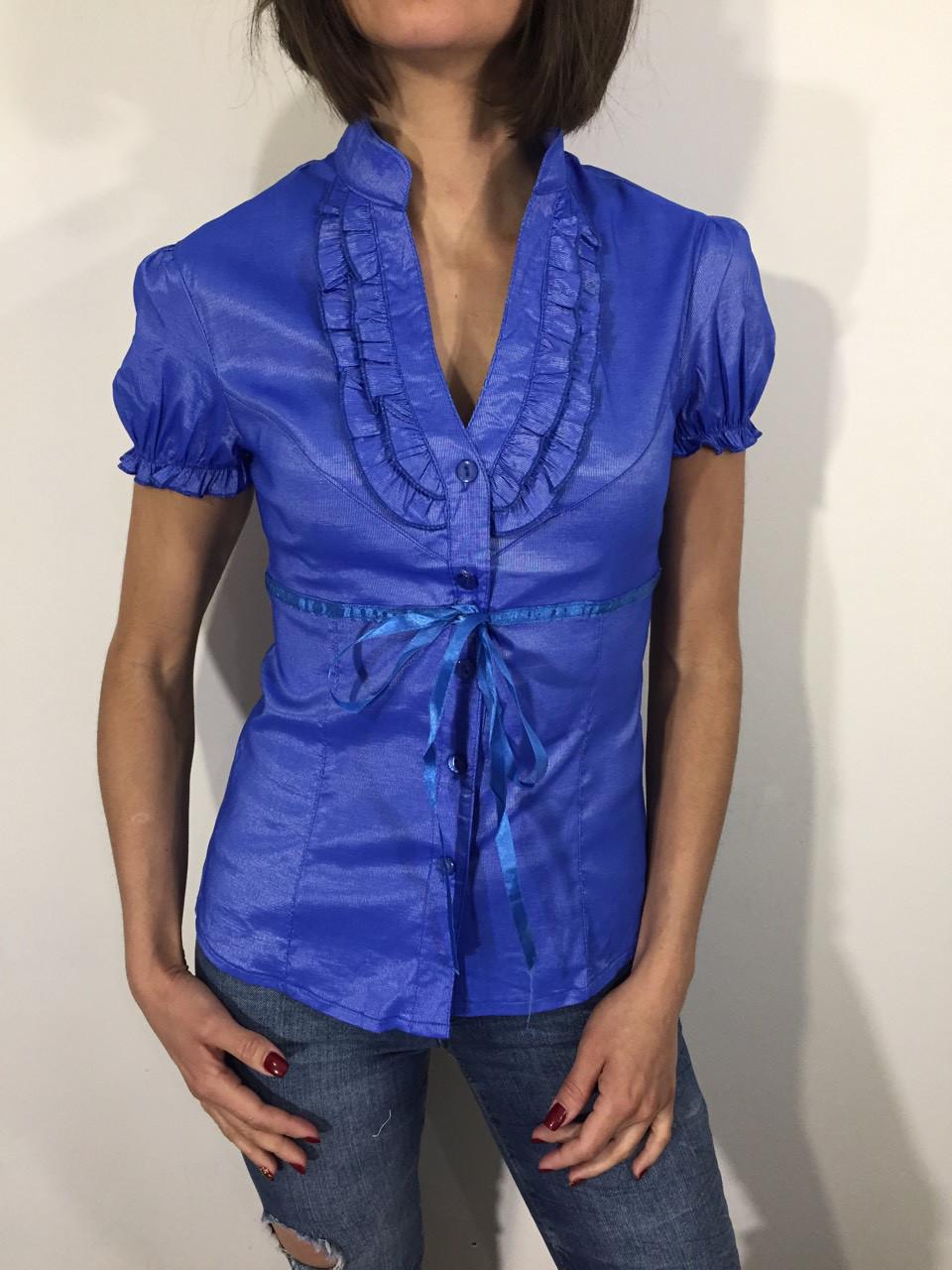 Рубашка женская 8200 голубая M