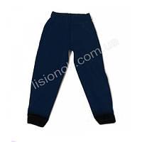 Спортивные тонкие штаны с начесом темно-синие