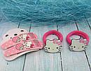 Набор резиночки + заколки Китти 4 предмета 5 набор/уп, фото 4