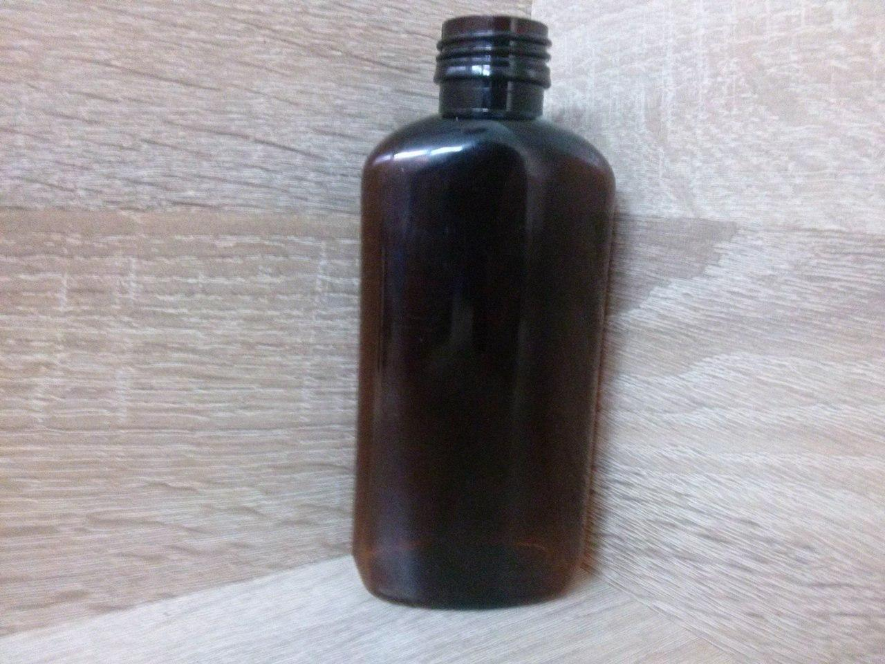 Флакон пластик коричневый плоский 200мл