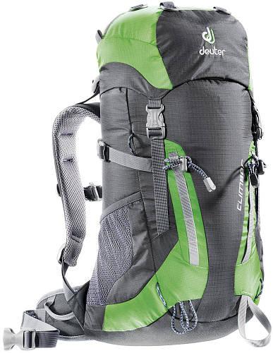 Рюкзак для маленьких скалолазов 22 л. DEUTER CLIMBER, 36073 4221 черный/зеленый