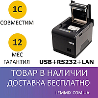 Чековый термопринтер XPrinter XP-Q300 USB + RS-232 + Ethernet, фото 1