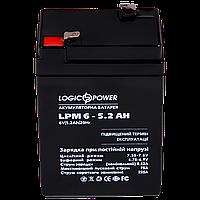 Аккумулятор кислотный LP 6-5,2 AH