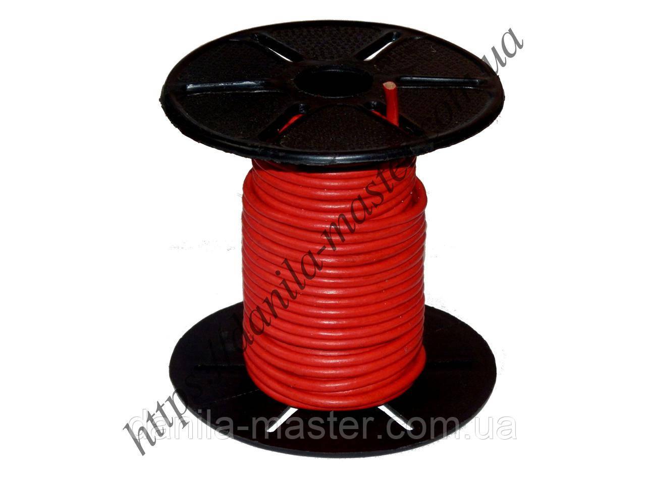 Шнур кожаный красный (d=2,5мм)