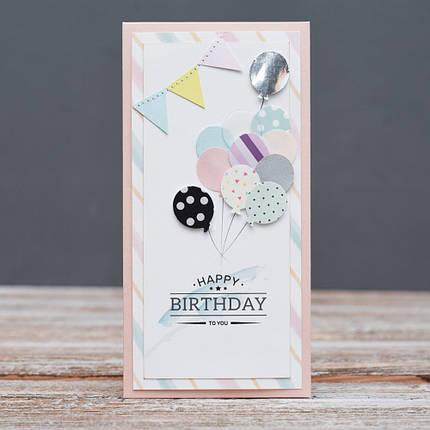 Открытка конверт Happy Birthday Воздушные шарики, фото 2