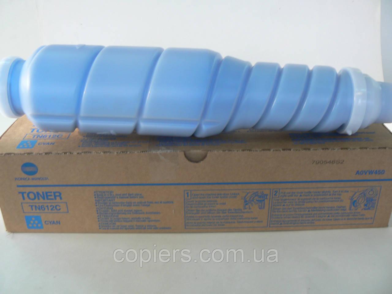 Toнер картридж TN-612 C Konica Minolta Bizhub C5501/С6501 оригинал, A0VW435, tn612 c