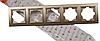 Рамка 5-местная роскошно золотой Enzo
