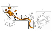 Бачок ГТЦ (главного тормозного цилиндра) Nissan Leaf ZE0 / AZE0 (10-17) 46090-3NA0B