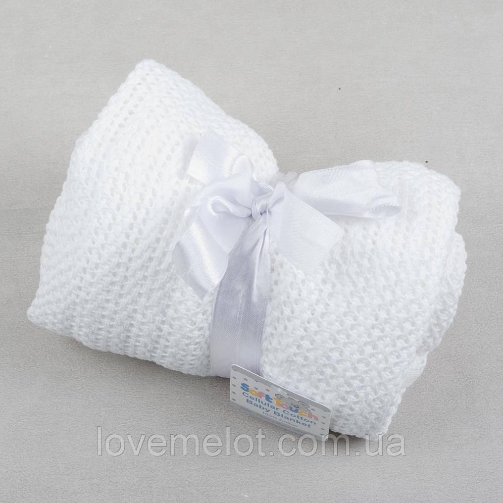 вязаный плед для новорожденных нежное касание 7090 белый продажа
