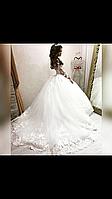 Свадебное платье с рукавом кружево