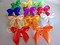 Колокольчики для первоклассников, выпускников школ и детских садов (d-35мм) с цветной лентой