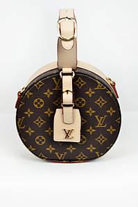 Классика Louis Vuitton круглая бежевая