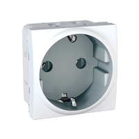 Розетка с ЗК Белый Unica Schneider Electric, MGU3.036.18