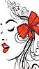 Схема для вишивки бісером Червоний бантик