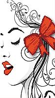 Схема для вишивки бісером Червоний бантик, фото 1