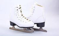 Коньки фигурные белые PVC Z-2151 (р-р 34-41, лезвие-сталь)