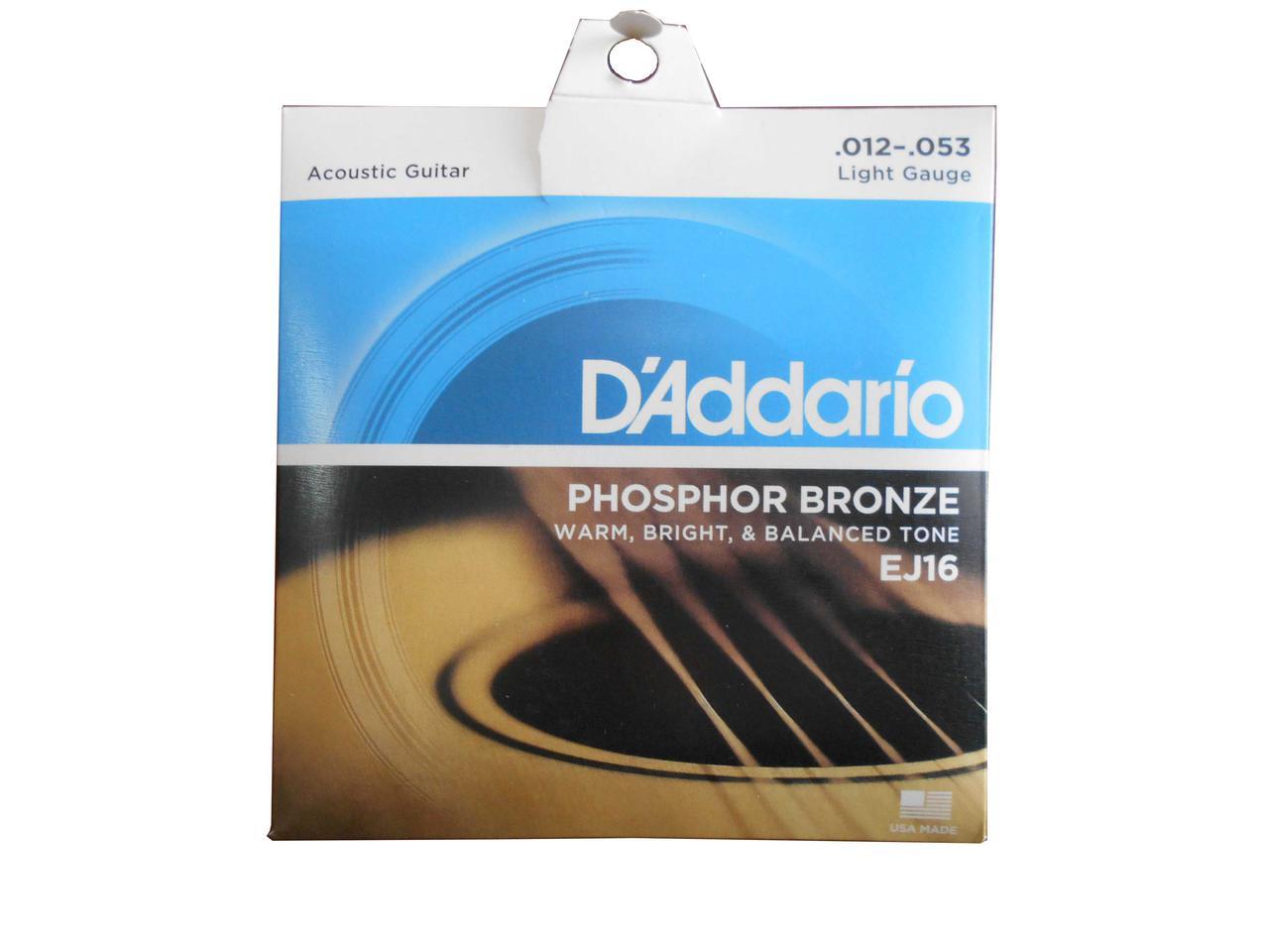 Струны Daddario Фосфорная Бронза размер 012