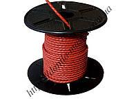 Шнур кожаный красный (плетеный) (d=3,0мм)