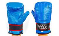 Перчатки снарядные с эластичным манжетом на липучке Кожа VELO ULI-4004 (р-р S-XL, цвета в ассортименте)